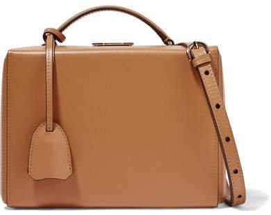 Grace Small Textured-leather Shoulder Bag - Sand