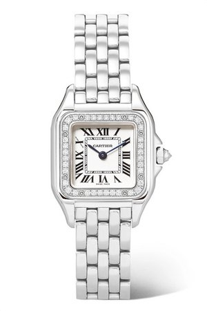 Cartier | Panthère de Cartier 27mm medium stainless steel and diamond watch | NET-A-PORTER.COM