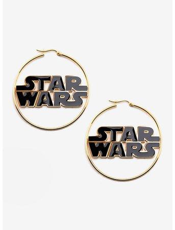 Star Wars Logo Hoop Earrings