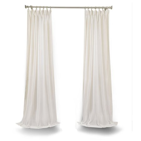 Rose Street White 120 X 50 In. Faux Linen Sheer Single Panel Curtain Panel | Bellacor