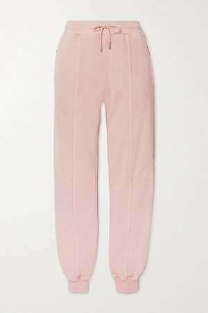 Net Sustain Paneled Organic Cotton-jersey Track Pants - Pink