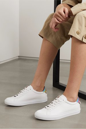 White Urban Street logo-print leather sneakers | Givenchy | NET-A-PORTER