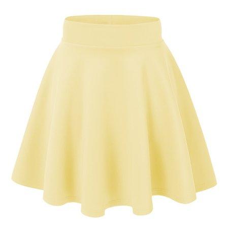 Pastel Yellow Skater Skirt