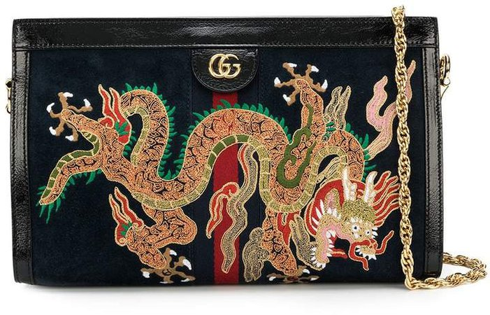 Ophidia embroidered shoulder bag