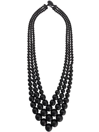 Black Monies Beads Necklace   Farfetch.com