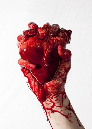 bleeding heart in hand