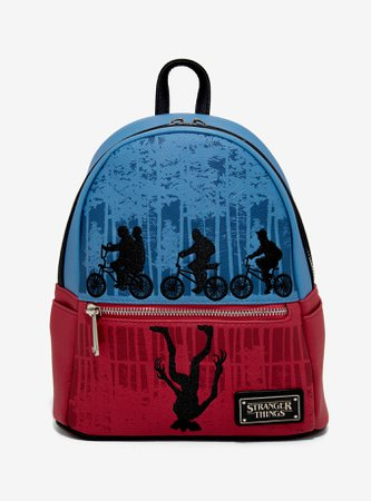 Loungefly Stranger Things Upside Down Color-Block Mini Backpack 2019 Summer Convention Exclusive