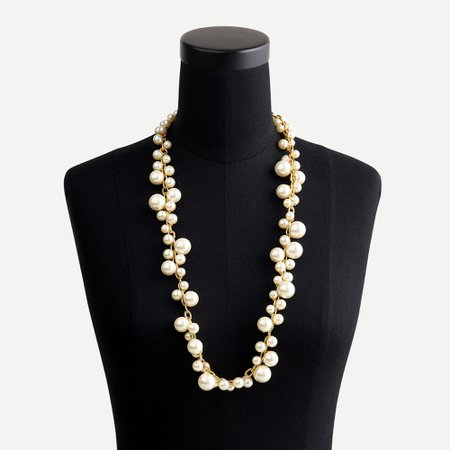J.Crew: Mixed-pearl Chain Necklace For Women