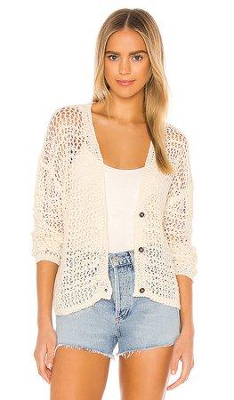 SWTR Crochet Cardigan in Natural | REVOLVE