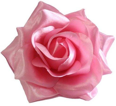 60050 Light Pink Rose Hair Clip Sourpuss Rockabilly Retro Pinup Flower Barrette | eBay