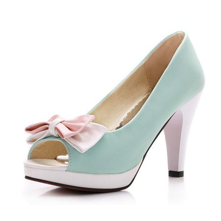 KSJYWQ 2017 Large Women shoes Peep toe Plus 43 Mint Green Pumps for party 10 cm Super High Heel Shoes Woman Box Packing JD 2 1-in Women's Pumps from Shoes on Aliexpress.com | Alibaba Group