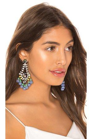 Beaded Dangle Teardrop Earrings