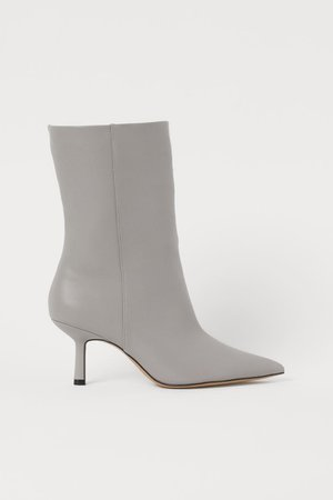 Pointed boots - Grey - Ladies | H&M GB