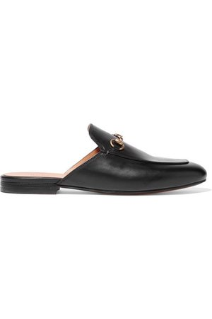 Gucci | Princetown horsebit-detailed leather slippers