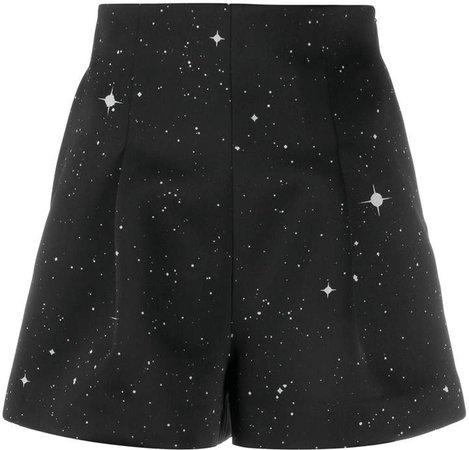constellation print shorts