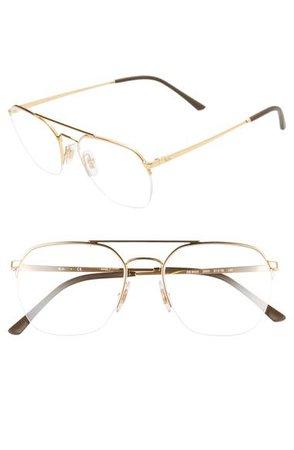 Ray-Ban 51mm Aviator Optical Glasses   Nordstrom