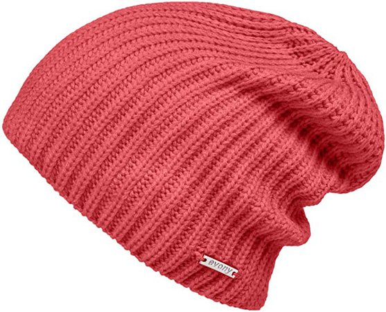 Fitted Knit Beanie Hat for Men & Women - Stylish, Soft & Warm Beanie (Pink) at Amazon Women's Clothing store