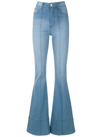 Shop Amapô Wanda flared jeans with Express Delivery - FARFETCH