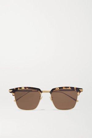 Tortoiseshell Light Ribbon square-frame gold-tone and tortoiseshell acetate sunglasses   Bottega Veneta   NET-A-PORTER