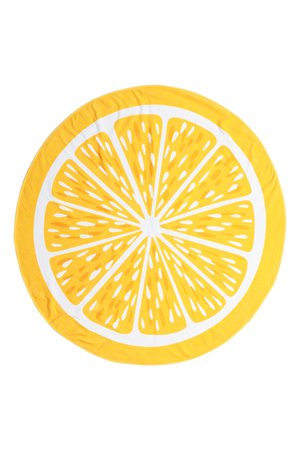 Round beach towel - Yellow/Citrus - Home All | H&M GB