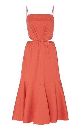 Summer Luck Stretch-Cotton Cutout Midi Dress by Johanna Ortiz   Moda Operandi
