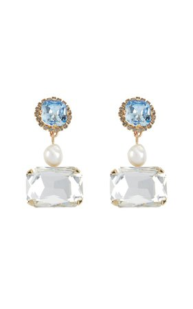 Crystal Pearl Drop Earring By Erdem | Moda Operandi