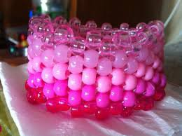 kandi bracelets pink - Google Search