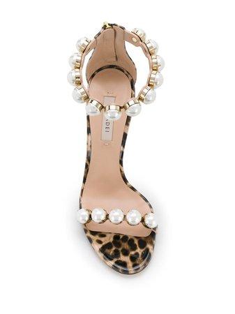 Casadei Leopard Print 115 Pearl Sandals - Farfetch