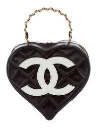 Vintage Quilted Heart Bag