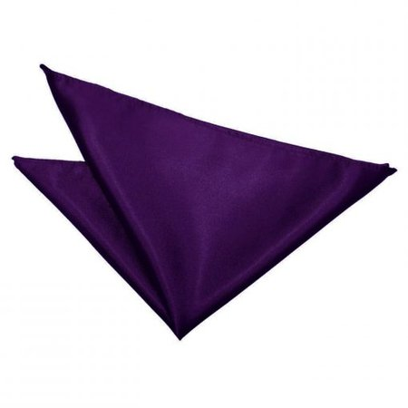 Purple Satin Pocket Square - James Alexander