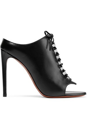 Alaïa   110 lace-up embellished leather mules   NET-A-PORTER.COM