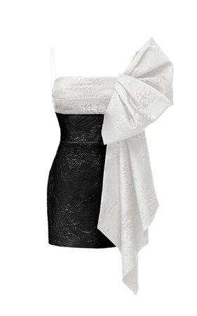 Bow-Embellished Jacquard Mini Dress By Rasario | Moda Operandi