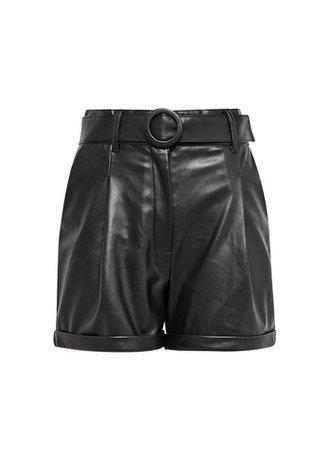 **Lola Skye Black PU Shorts | Dorothy Perkins