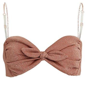 Montce Swim Cabana Sparkle Bikini Top   INTERMIX®