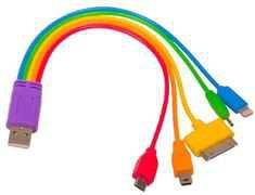 Rainbow charger USB