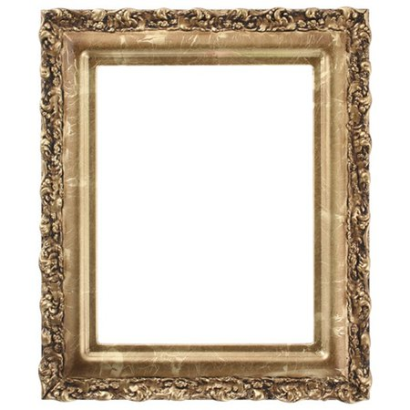 Rectangle Frame in Champagne Gold Finish  Gold Leaf Picture Frames with Dark Shading and Ornate Decorations