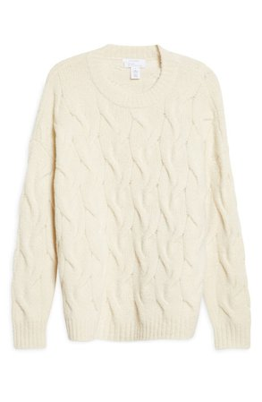 Cable Crewneck Cashmere Sweater   Nordstrom