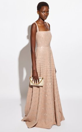 Embellished Wool And Silk-Blend Gown By Valentino | Moda Operandi