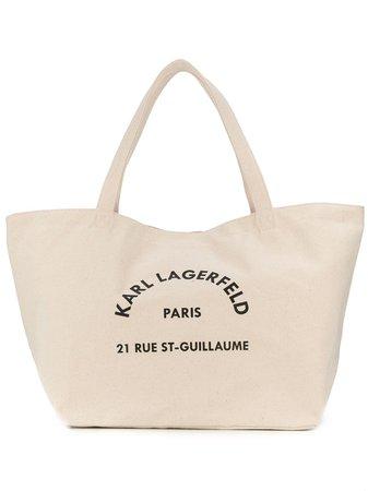 Karl Lagerfeld Logo-Print Tote Bag 201W3138106 Neutral | Farfetch