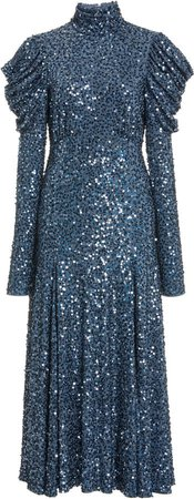 Michael Kors Collection Sequined Jersey Dress