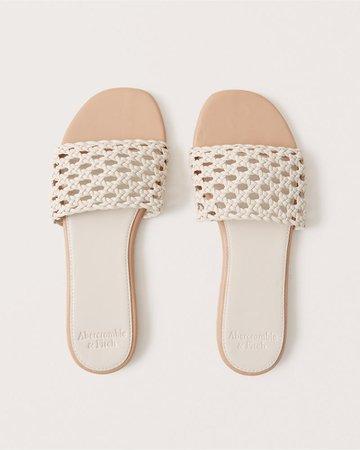 Women's Woven Slide Sandals | Women's | Abercrombie.com