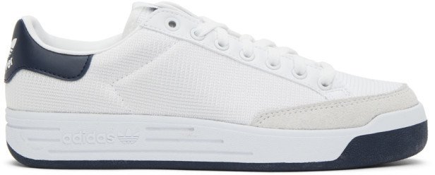 White and Navy Rod Laver Sneakers