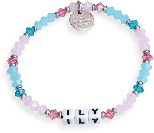 ILY Beaded Stretch Bracelet