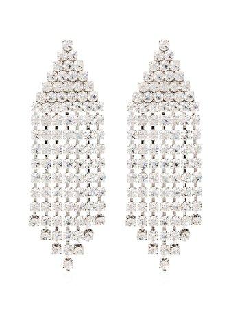 Alessandra Rich Triangle Cascade Crystal Earrings Ss20 | Farfetch.com