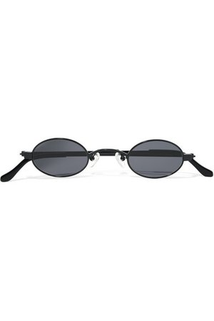Roberi & Fraud   Doris oval-frame stainless steel and acetate sunglasses   NET-A-PORTER.COM