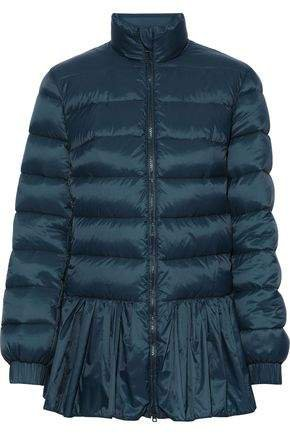 Ruffle-trimmed Quilted Shell Down Jacket