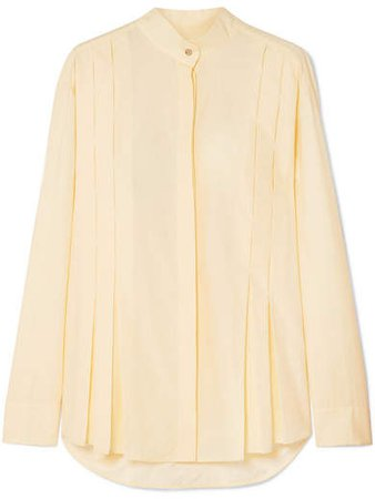 Maggie Marilyn - It's The Little Things Organic Cotton-poplin Shirt - Yellow