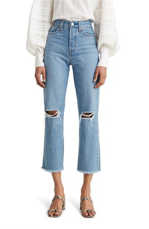 Levi's® Wedgie High Waist Crop Straight Leg Jeans (Market Street) | Nordstrom