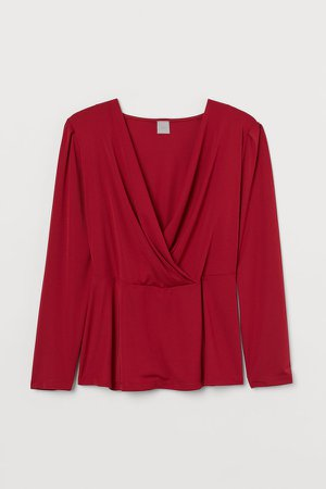 H&M+ Wrapover Top - Red