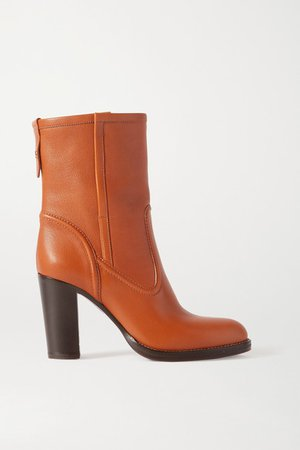 Emma Leather Ankle Boots - Tan